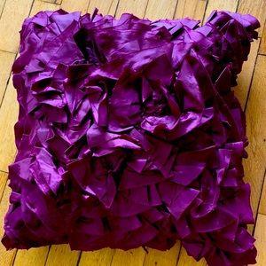 Pier 1 purple ruffle pillow